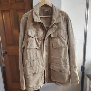 Levi's Mens Khaki Jacket, Size L